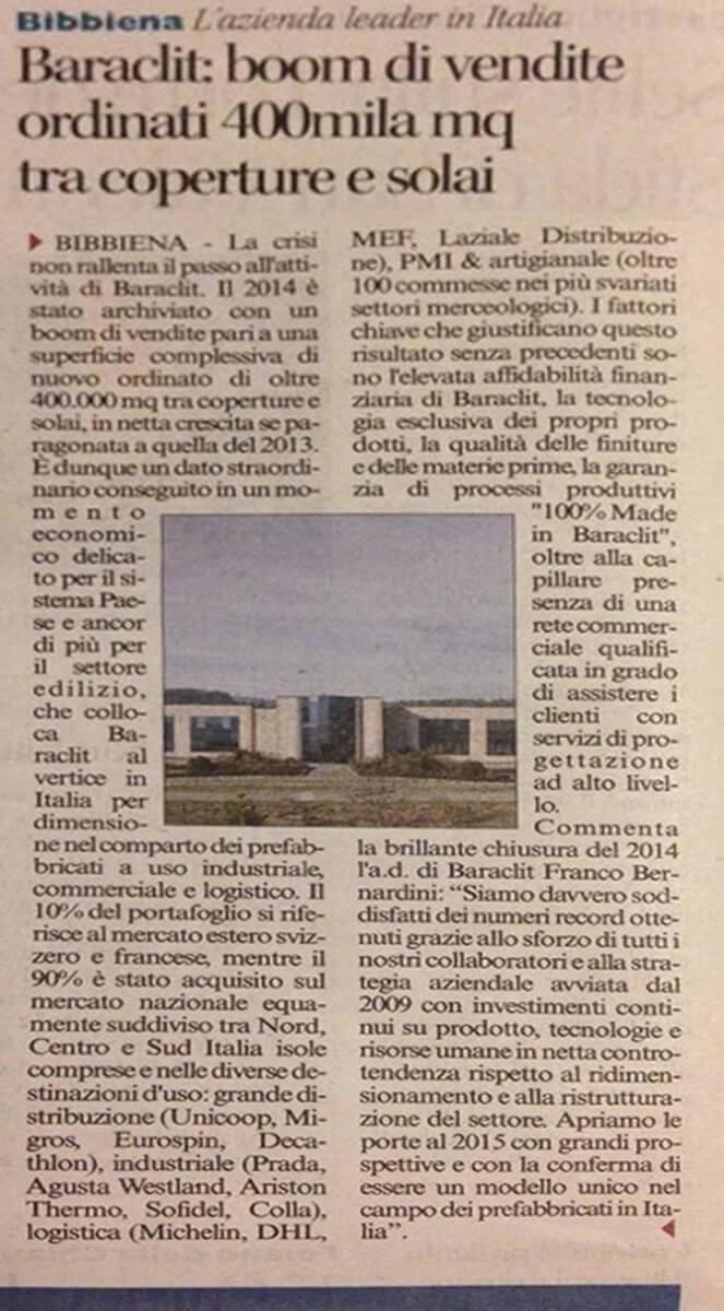 Corriere di Arezzo 7 febbraio 2015
